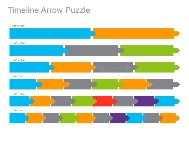 Timeline Arrow Puzzle Apple Keynote Presentation HttpWww