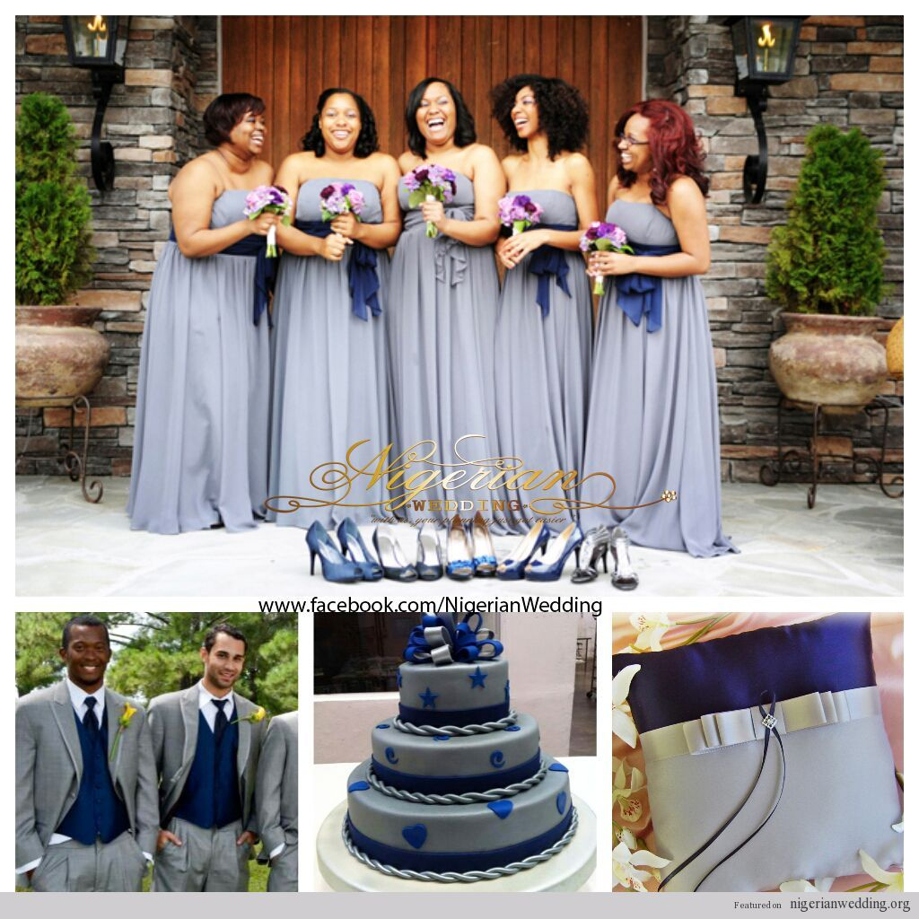 Gray Navy And White Bedroom: Nigerian Wedding Colors: Grey & Navy Blue