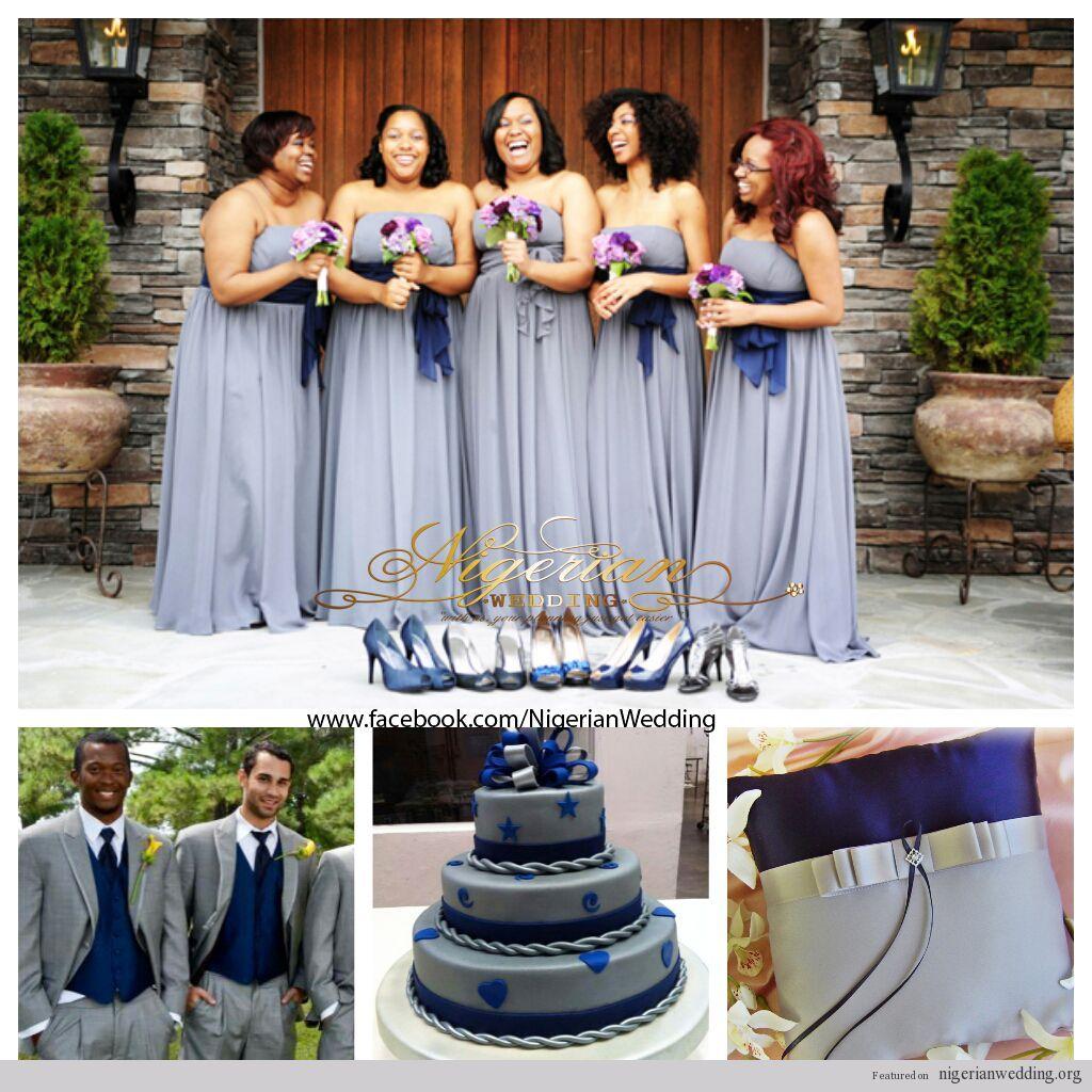 Nigerian Wedding Colors Grey Navy Blue