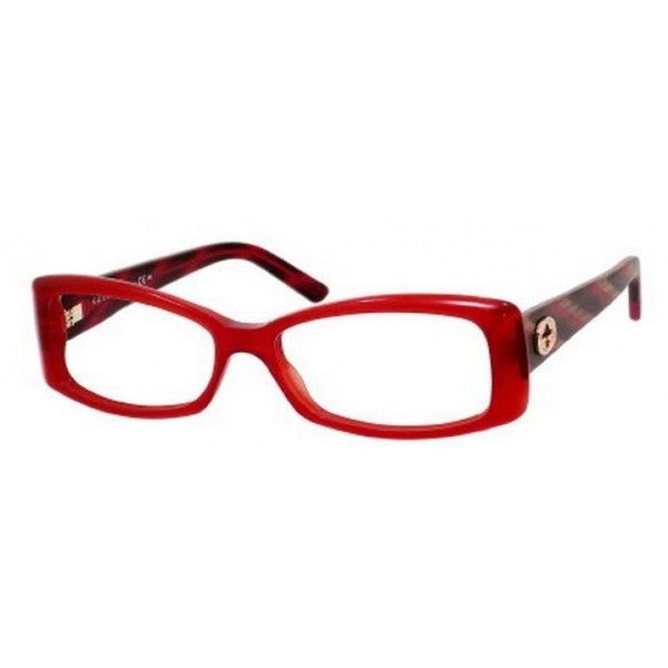 fa76ede6703 Gucci GG3560 Burgundy Eyeglasses ( 236) ❤ liked on Polyvore featuring  accessories