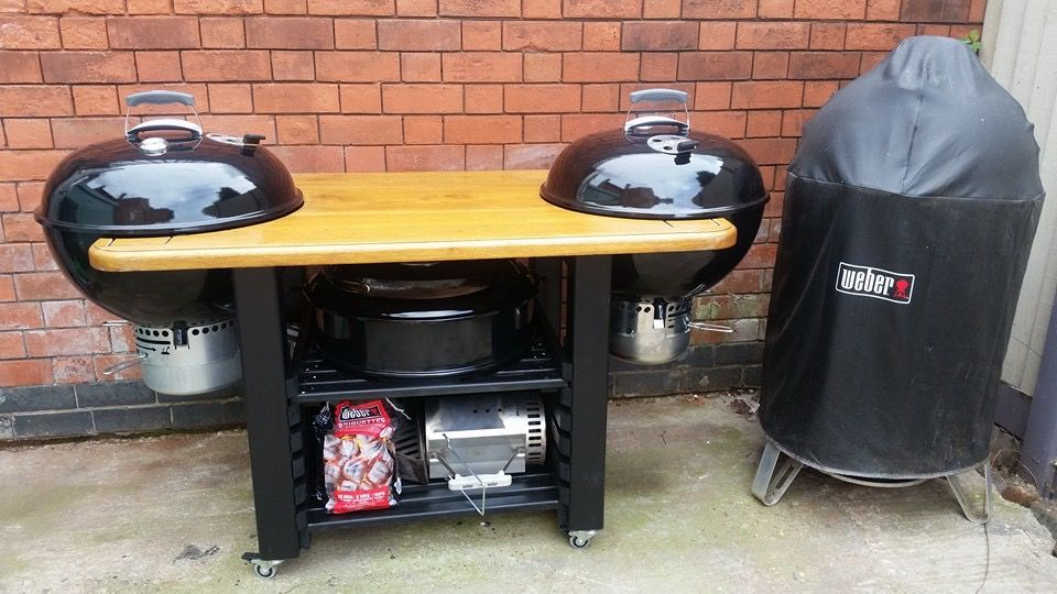 Double Weber Weber Grill Table Diy Grill Table Weber Grill Table