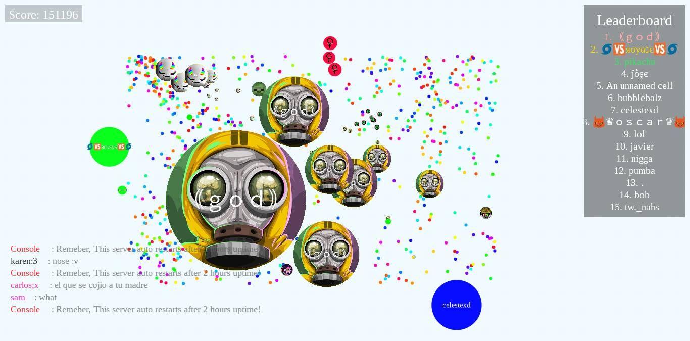 god Nickname Agario Pvp Server Score Agariofun Com Nickname