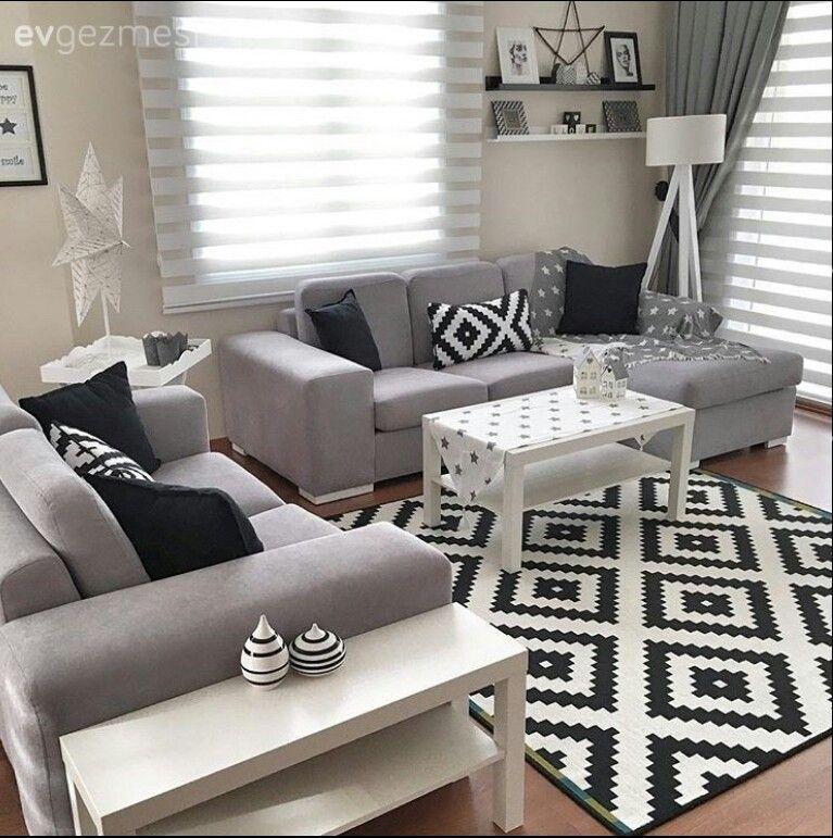 Black Grey And White Living Room Inspo