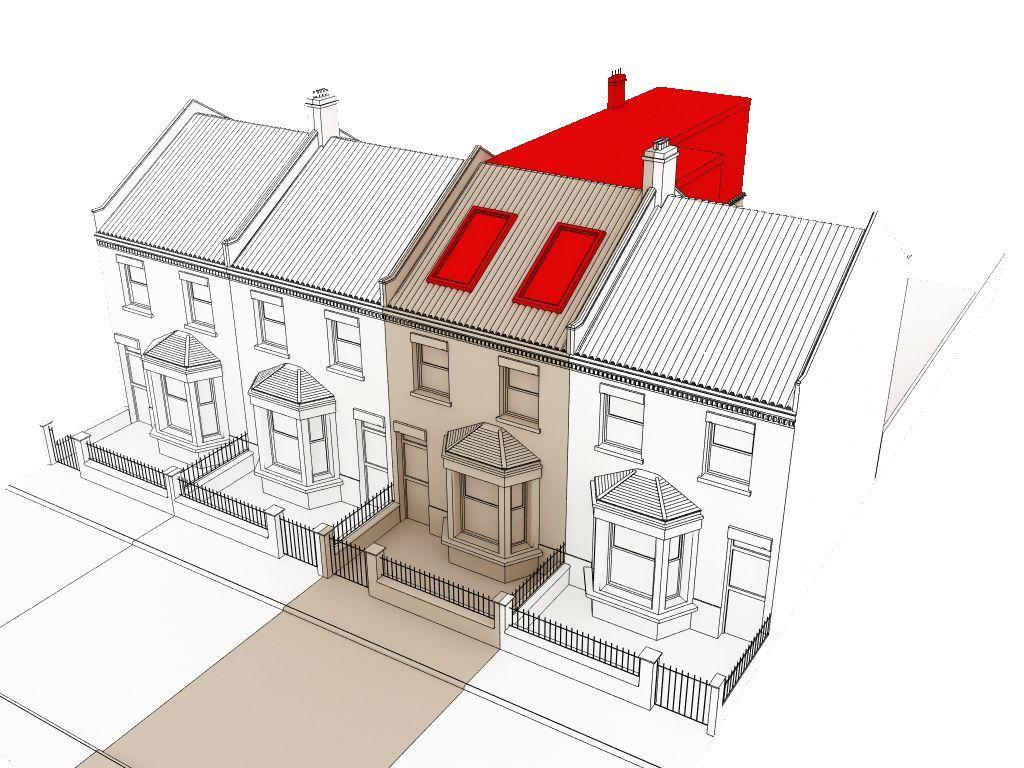 L shaped loft conversion plans terrace google search for Terrace extension ideas