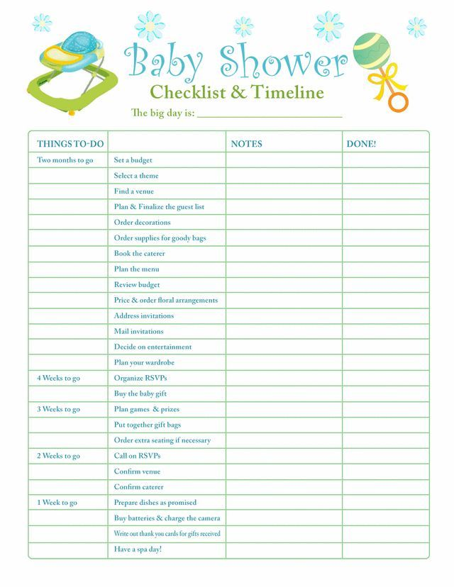 What mommy brain? 10 printable checklists that will organize you - sample newborn checklist