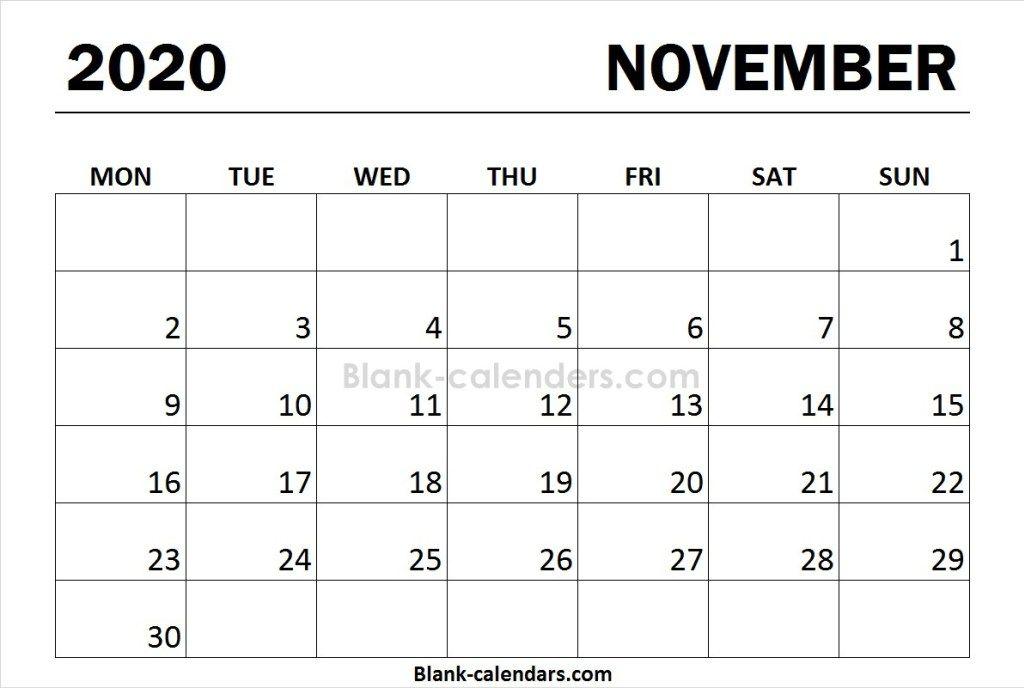Print Calendar 2020 November Monday Start Print Calendar January Calendar Calendar 2020