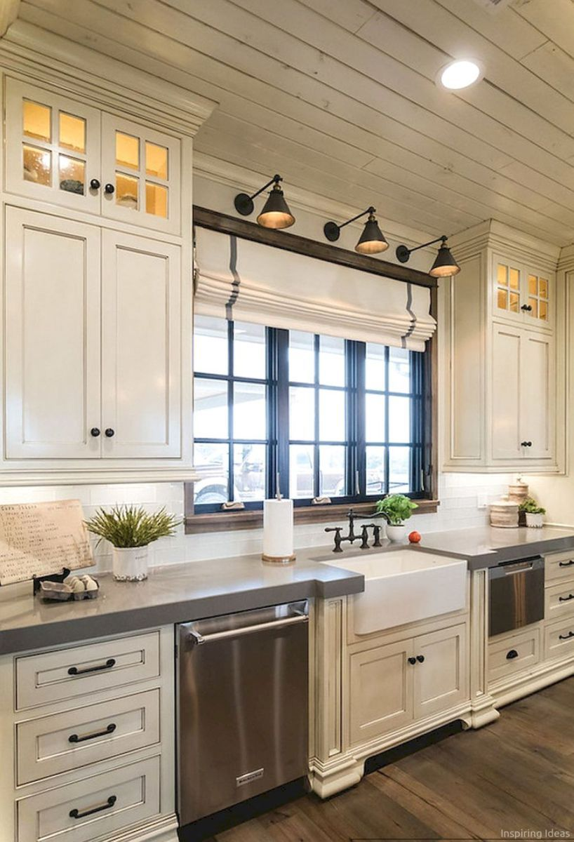 016 awesome modern farmhouse kitchen cabinets ideas