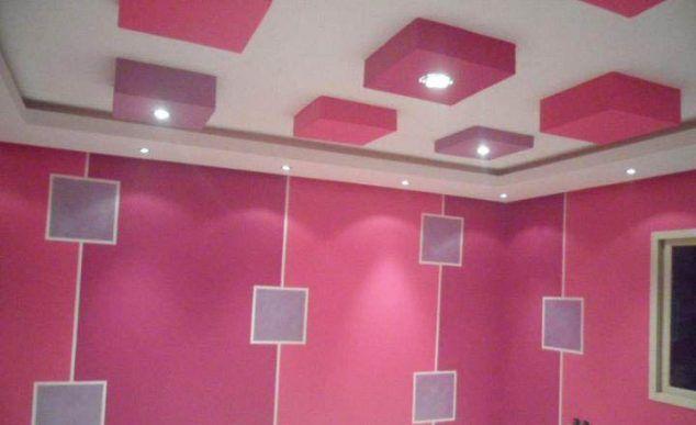 13 Pink Gypsum Board Design for Girl Kids Room That Looks Impressive ...