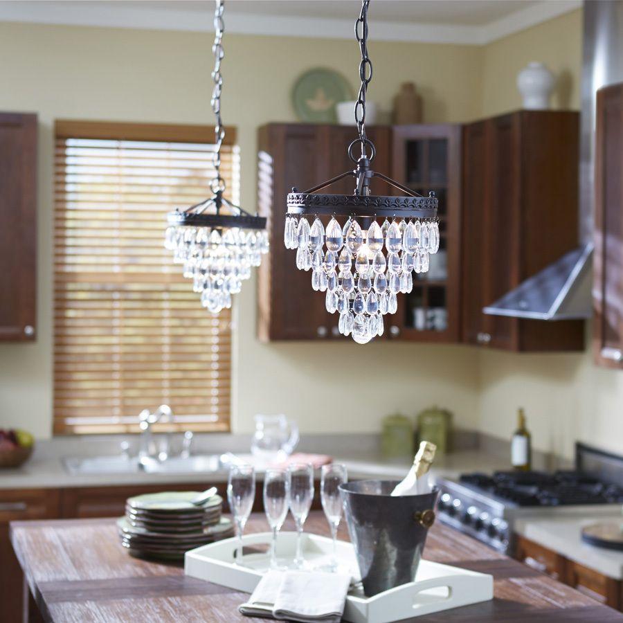 Shop Allen Roth Eberline 9 06 In W Oil Rubbed Bronze Crystal
