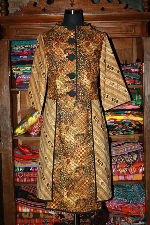Dress batik lawas | Klambi batik | Dress batik kombinasi ...