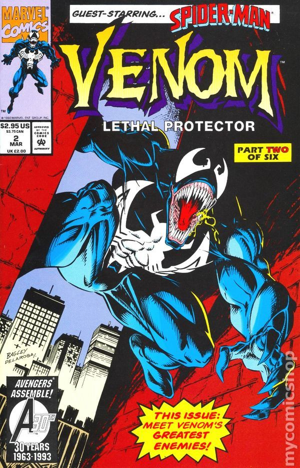 Venom Lethal Protector (1993) #2 marvel comics cover | Our ...