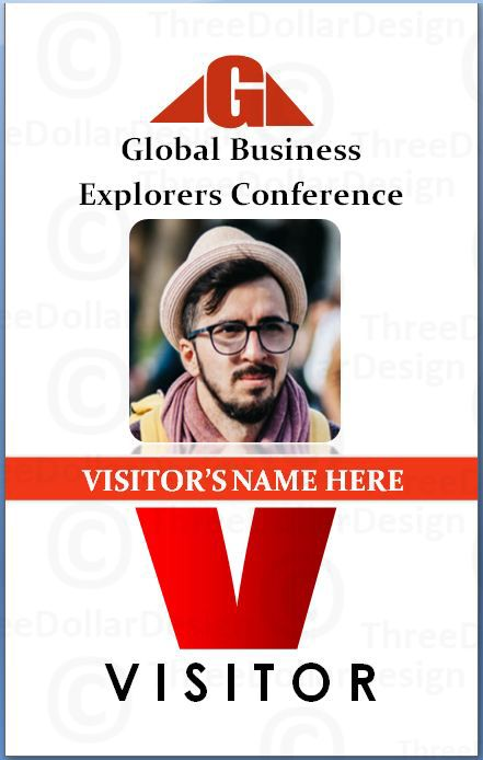 Visitor Pvc Card   Employee Card Template    Card