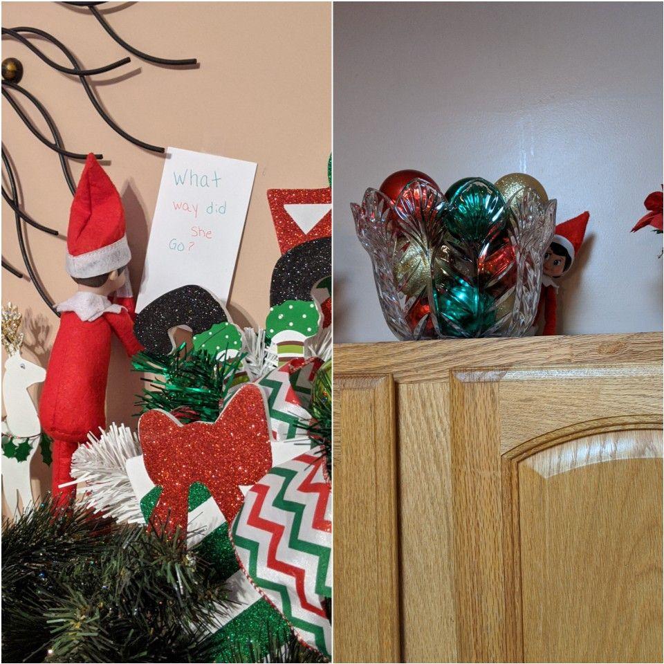 Elf on the shelf plays hide n seek Creative