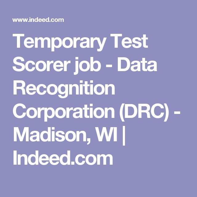 temporary test scorer job data recognition corporation drc