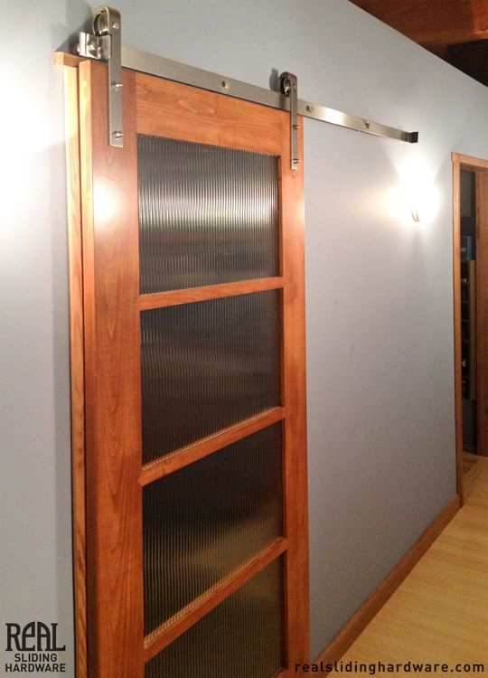 Modern Barn Doors Look Great With Stainless Steel Hardware.