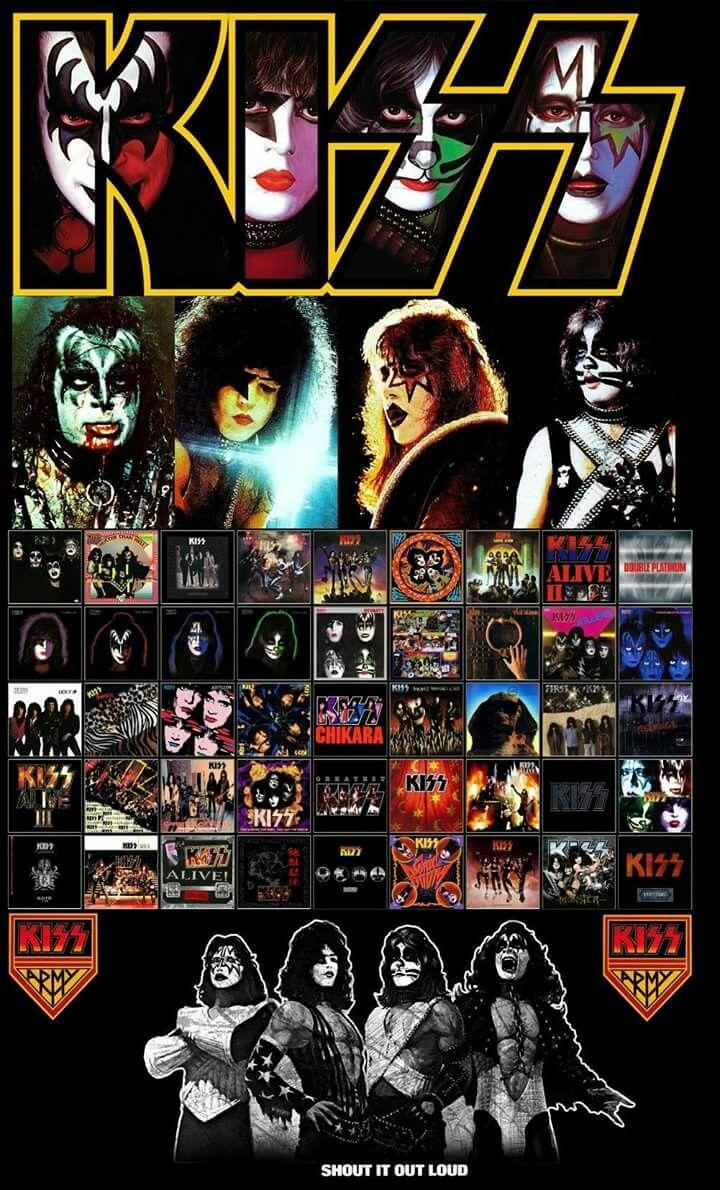 Kiss Album Collection Kiss Rock Bands Kiss Band Kiss Army