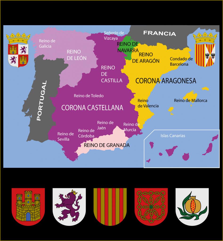 Evolución Del Escudo De España Heráldica Hispánica Escudo De Armas Apellidos Escudo Heraldica Española