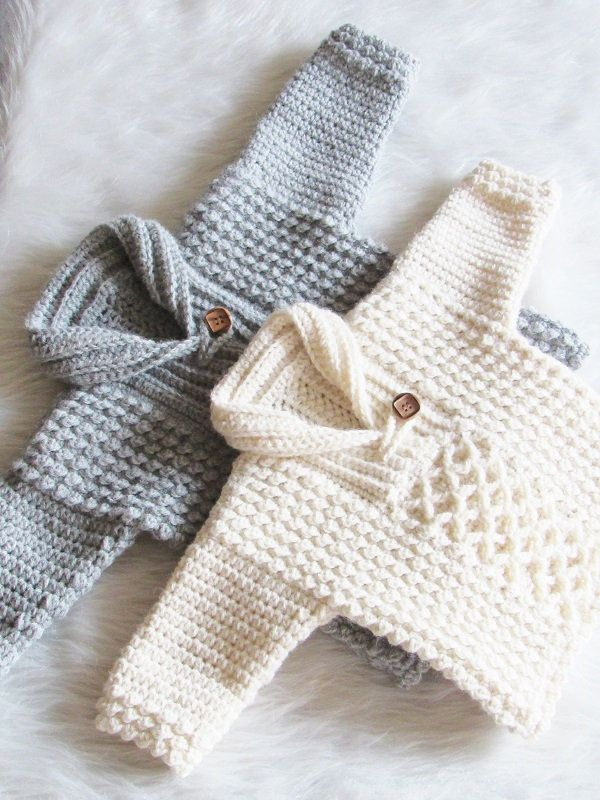 Photo of Crochet Sweater Pattern for Baby and Toddler, 0-3 Months to 3/4T, Textured Crochet Sweater, Bentley Sweater