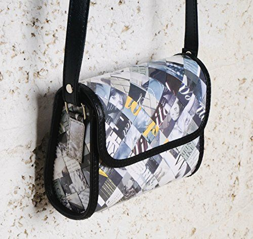 Small cross body using magzine paper  Free standard shipping  Upcycling by Milo ** Click image to read more details. #Handmadehandbags