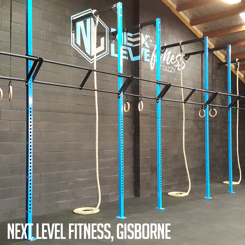 Industrial athletic custom rig and gym equipment at next level