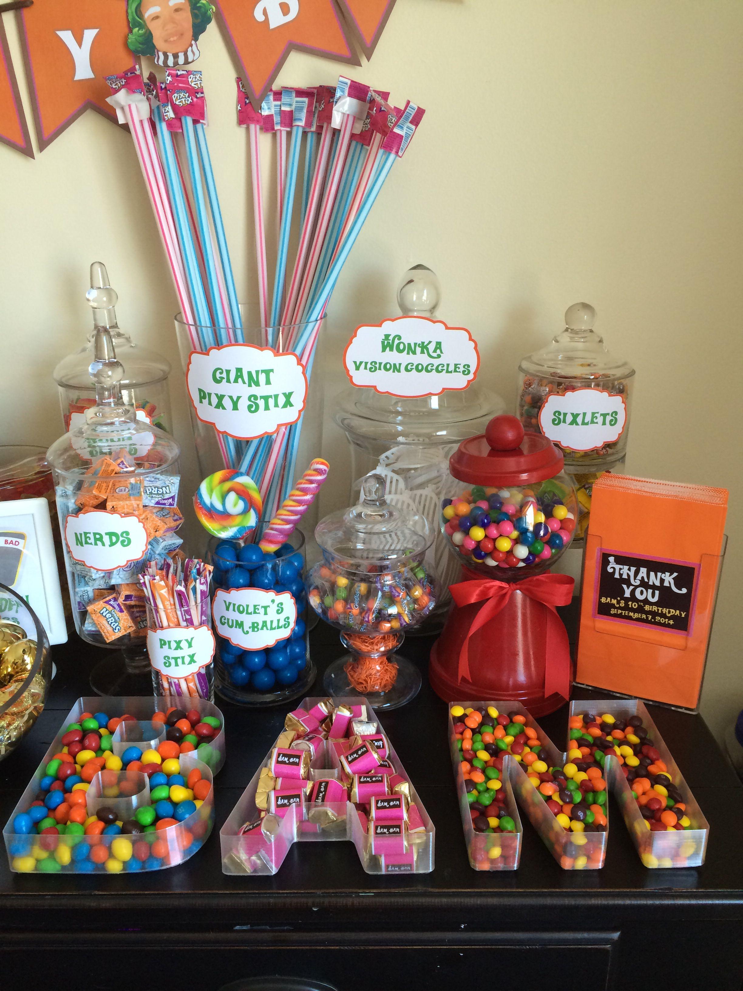 Candy Bar W Letter Dishes Mesas De Frutas Postres Manualidades Para Boda