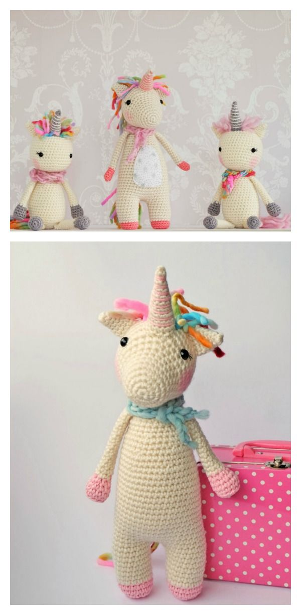 Crochet Unicorn with Free Patterns | amigurumis | Pinterest ...