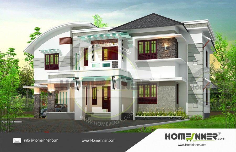 2850 Sq Ft 5 Bedroom Kerala Home Design Kerala House Design Architectural House Plans Duplex House Design