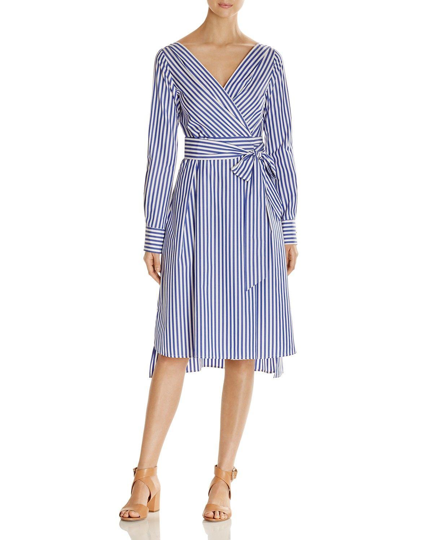 54b801a0ad Weekend Max Mara Vanesio Striped Poplin Wrap Dress - 100% Exclusive ...