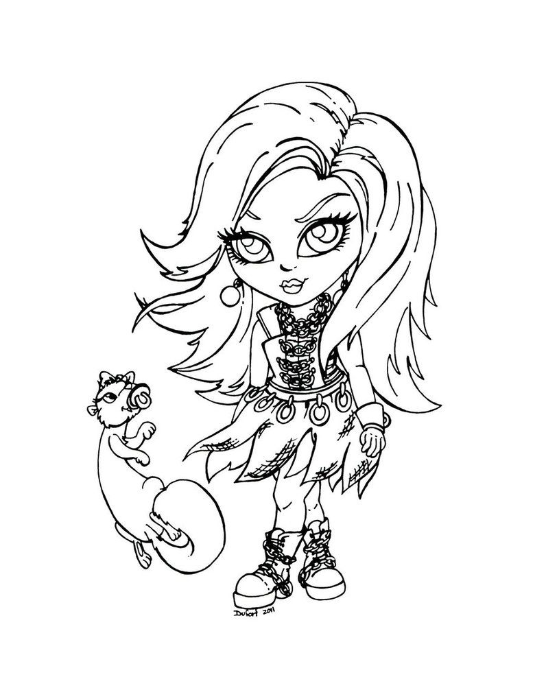 Ausmalbilder Monster High Spectra : Monster High Printable Coloring Pages Spectra Vondergeist Monster