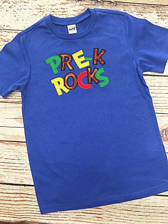 Boys Basketball Pre K Rocks Embroidered Shirt By Bindulgedboutique