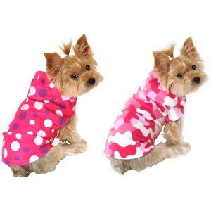Simply Dog Dot Dog Fleece Camo Dog Fleece Bundle Pink Multiple