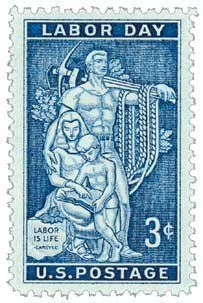 #1082 - 1956 3c Labor Day Postage Stamp Numbered Plate Block (4) . $0.20. This is a numbered Plate Block of 4 stamps