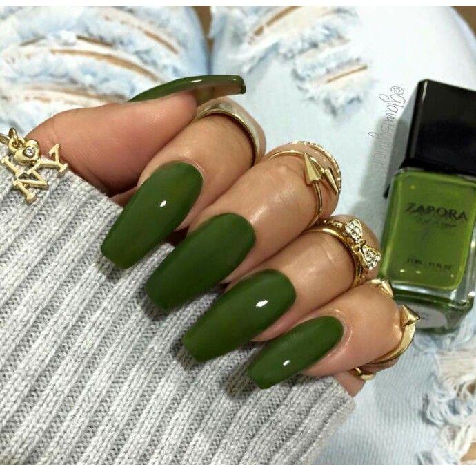 Pinterest Missgiana With Images Green Nails Gel Nails Ballerina Nails