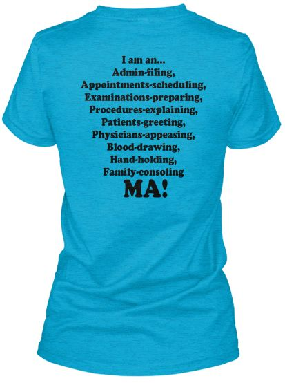 Medical Assistant Cool Tee Shirt Medical Assistant in My Blood Tshirt
