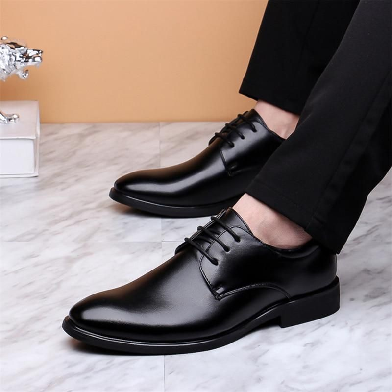 New Men/'s stylish lace-up Leather Business Oxford Dress Formal Casual Shoes