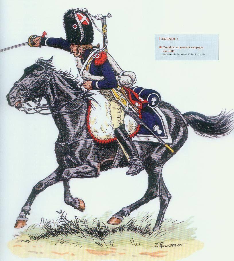 Carabinier en tenue de campagne vers 1806