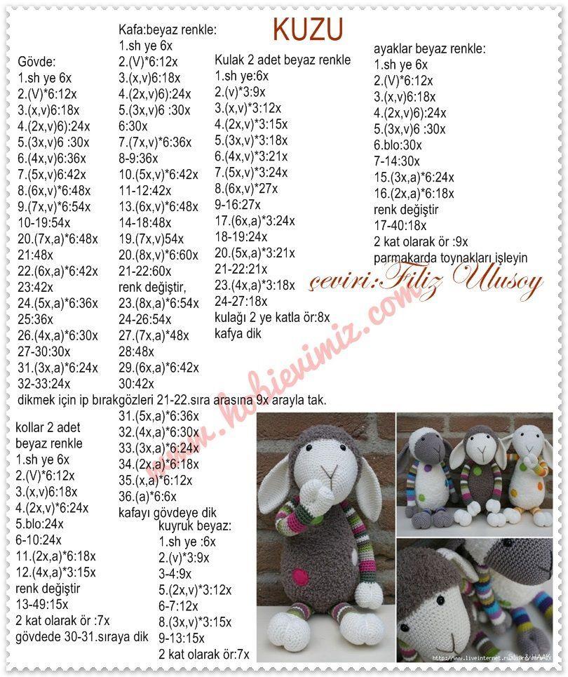 Amigurumi Kuzu Yapımı - Örgü Modelleri | 965x810