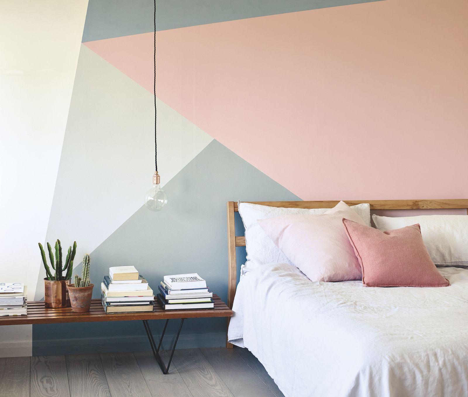Pink And Gray Striped Wall Paredes Listradas Rosa Decoracao Quarto E Sala Pintura Das Paredes Dos Quartos