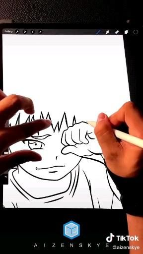 Photo of Naruto Uzumaki Digital Artwork Artist: aizenskye from TikTok