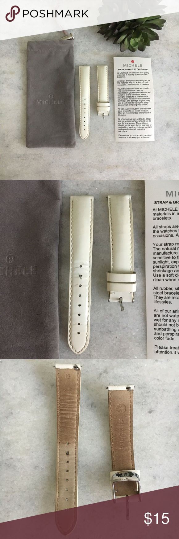 Michele White Patent Leather Watch Band Leather Watch Bands Watch Bands Leather Watch