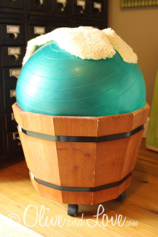 yoga ball desk chair diy adjust height by adding wood beneath