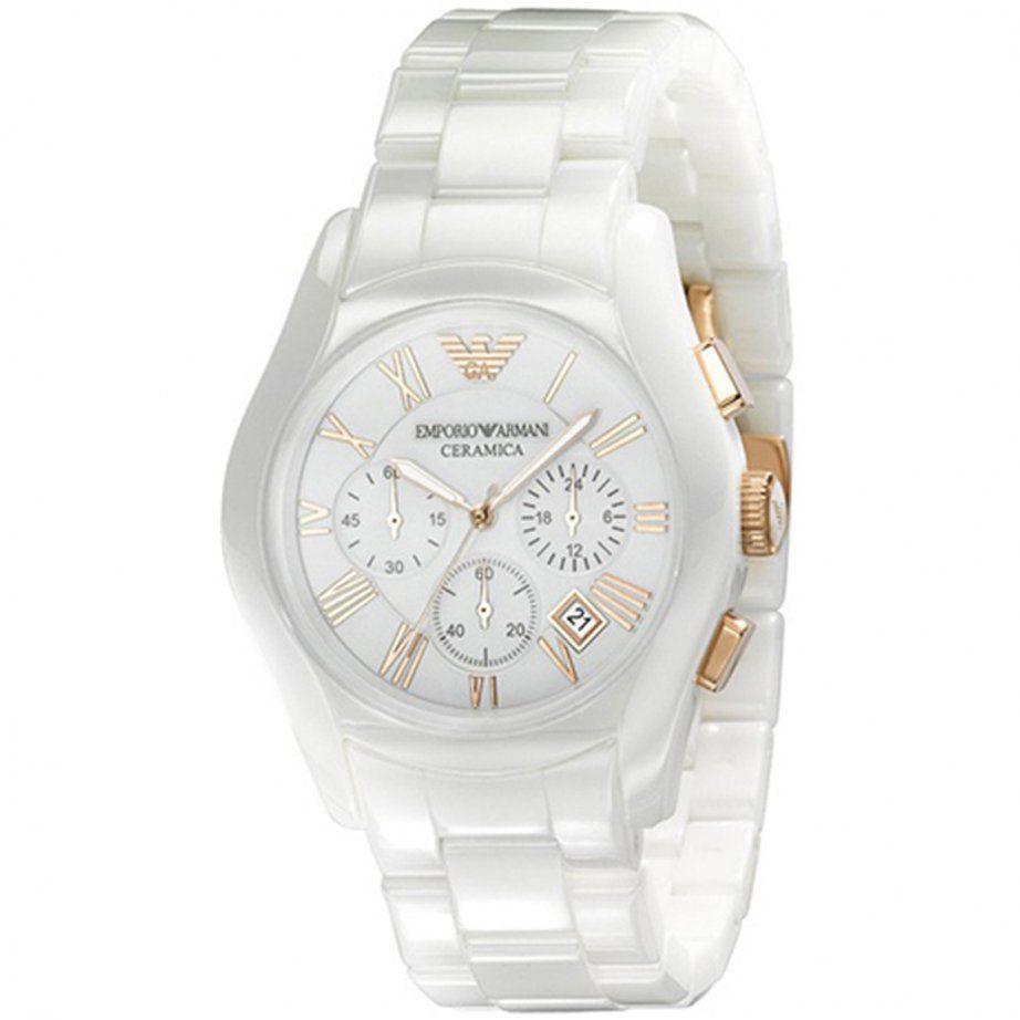 a21a92ed Armani White Ceramic Watch | Watch me | Armani white, Armani watches ...