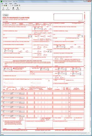 CMS 1500 Medical Claim Software CMS 1500 software Pinterest - medicare form