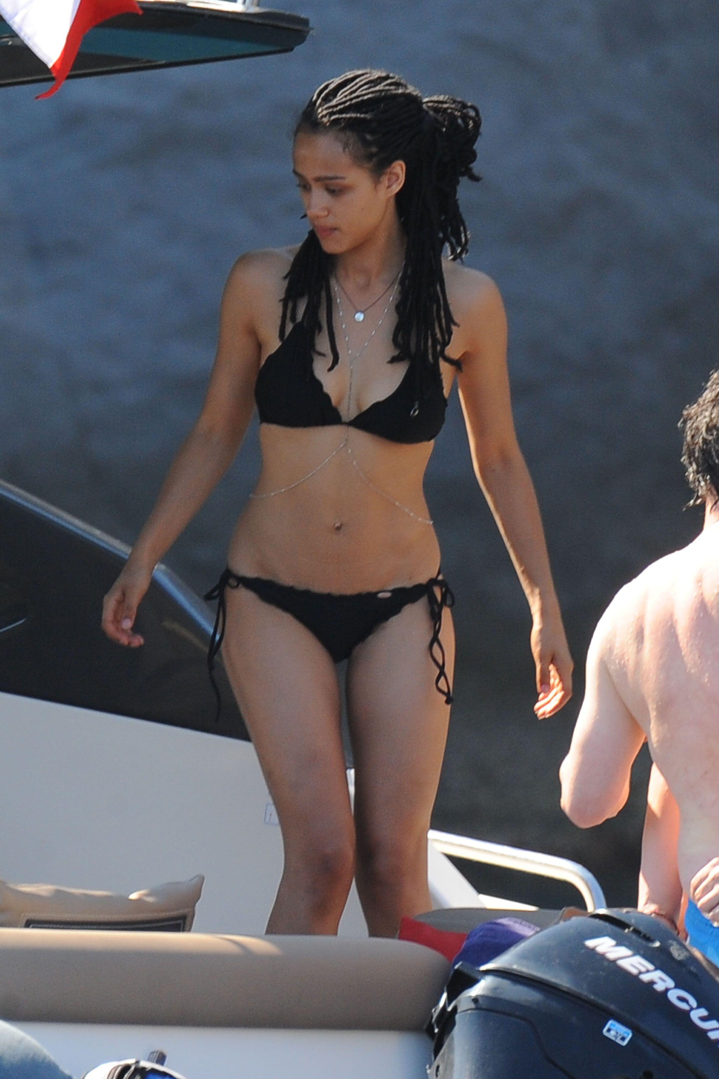 Nathalie Emmanuel – bikini candids Ischia 15.07.15 ...