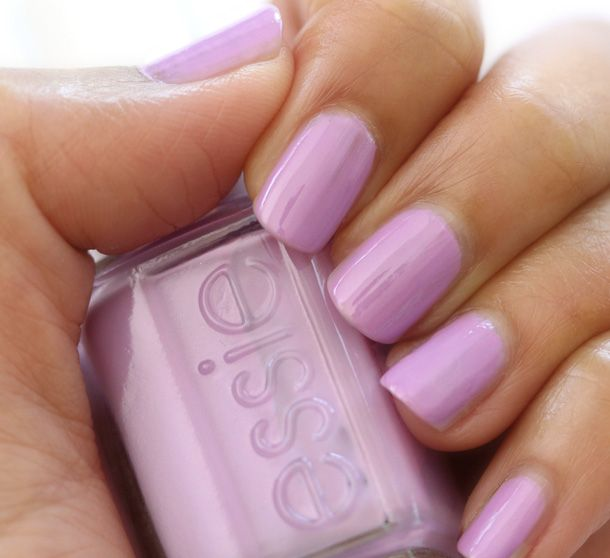 Light Pink Purple Nail Polish: Essie Under Where (two Layers)