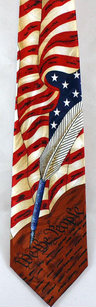 35dc18e6bb6 New USA History Constitution Mens Necktie American Flag 4th July Patriotic  Tie  StevenHarris  NeckTie