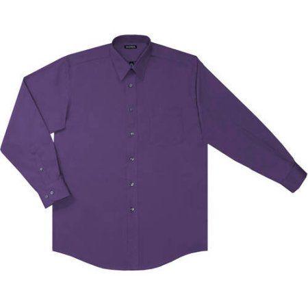 8ef9ebc2e7f George Men s Long Sleeve Poplin Dress Shirt