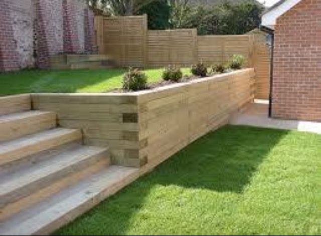 Idees De Mur De Soutenement Amenagement Jardin En Pente Amenagement Jardin Escalier De Jardin