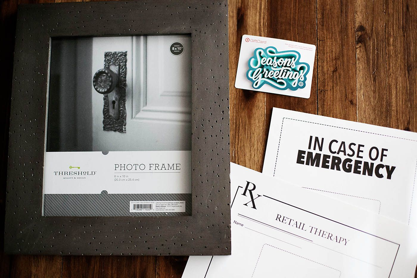 Wondering how to wrap a gift card in a way they'll never forget? This idea from Blogger All for the Memories is a-m-a-z-i-n-g! Print these awesome certificates and attach your Target GiftCard. Place it in a picture frame for a gift sure to steal the show.