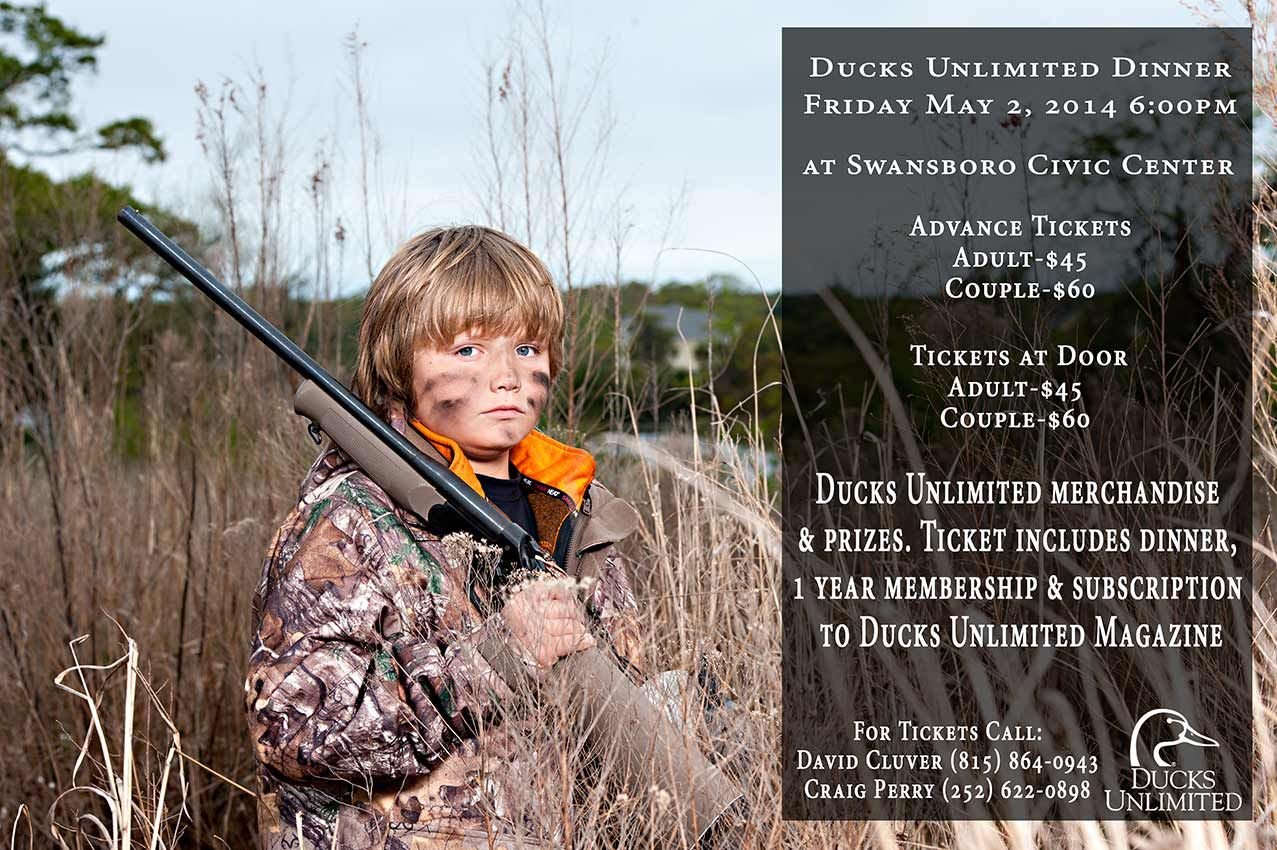 Ducks unlimited banquet prizes for baby